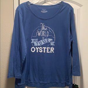 Sleep Sense The World is Your Oyster PJ Top